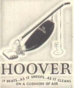 1930 Hoover Vacuum Cleaner ad