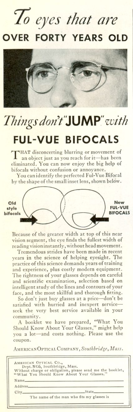 1932 American Optical Company ad