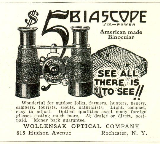 1926 Binocular Advertisement