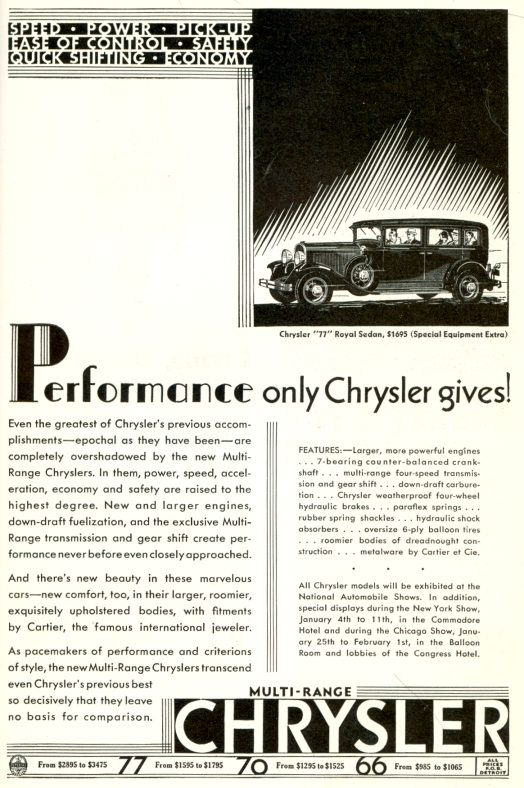 1930 Chrysler Ad