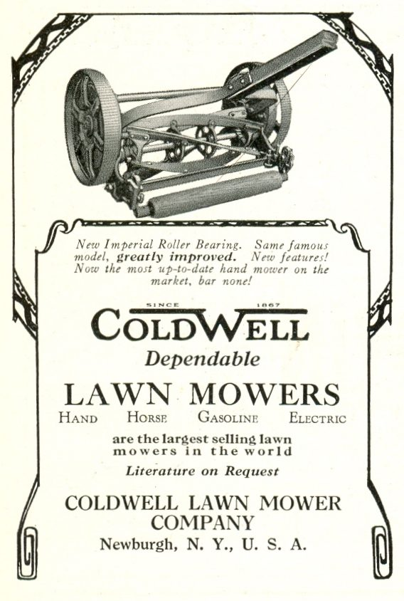 1928 Coldwell Lawn Mower Ad