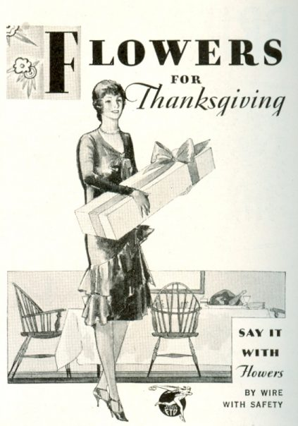 1929 FTD ad - Flowers For Thanksgiving