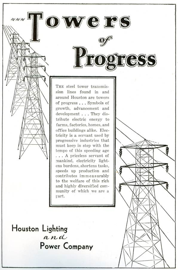 1931 Houston Lighting And Power Company ad
