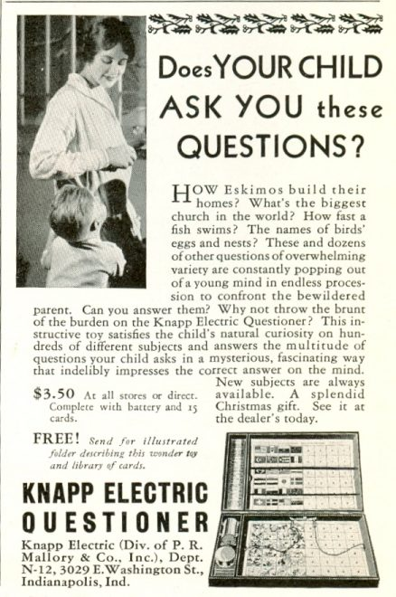 Knapp Electric Questioner - 1930s Toy