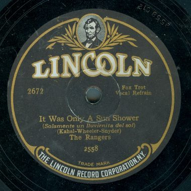 1927 Lincoln record label