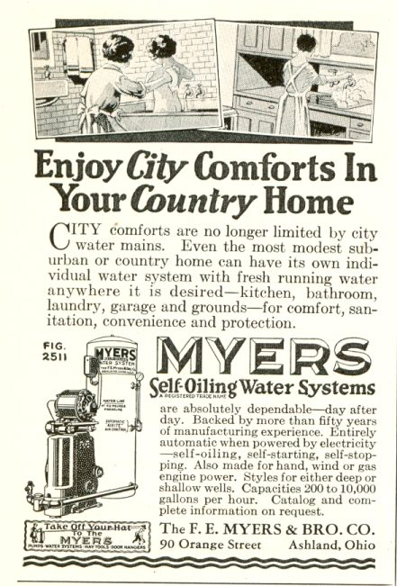 Myers Self-Oiling Water Systems - 1929 ad