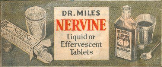 Dr. Miles Nervine - 1935 ad