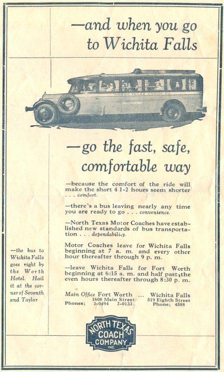 1928 Texas Motor Coach ad