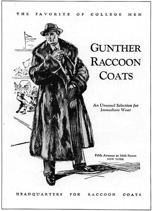Gunther Raccoon Coats - 1931 Ad