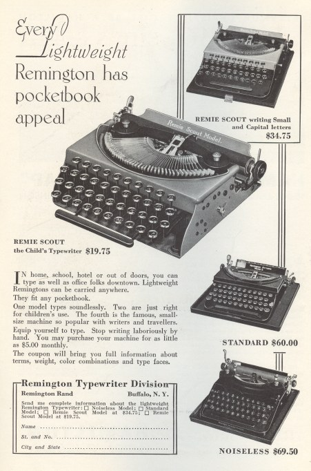 Lightweight Remington Typewriters