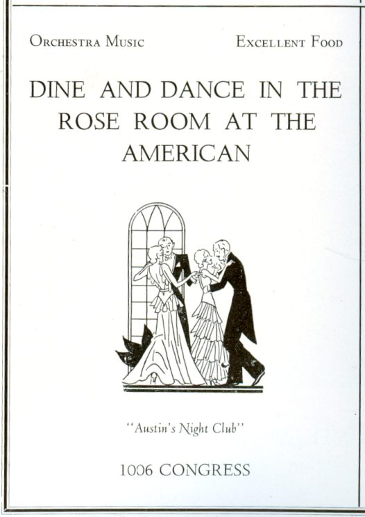 Rose Room - Austin's Night Club - 1931 ad