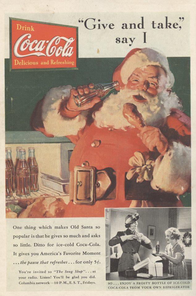 1937 Coca-Cola Santa Claus Ad