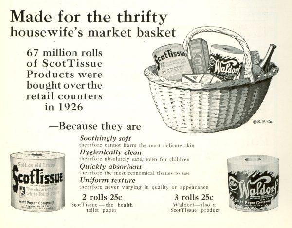 1927 Scott Paper Company ad