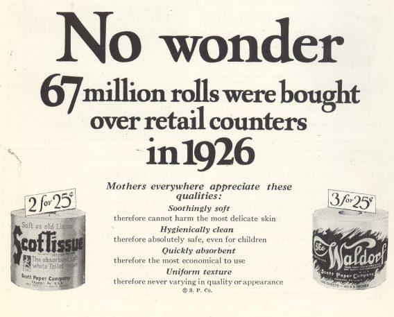 Scott Tissue Ad - 1927