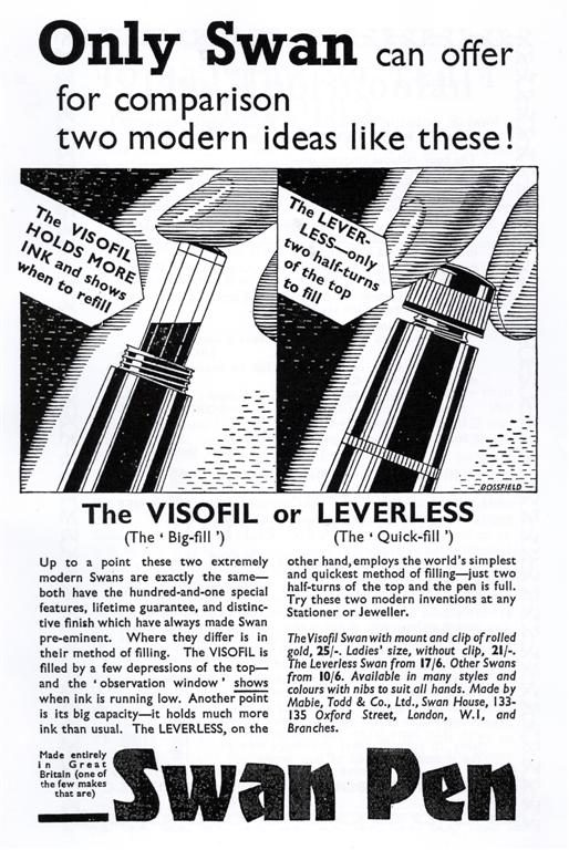 Swan Pen - Great Britain ad 1936