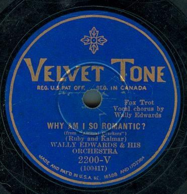 1930 Velvet Tone label